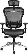Oak Hollow Furniture Aloria Series Office Chair Ergonomic Executive Computer Chair with Headrest, Genuine Leather Seat Cus...
