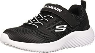Skechers Bounder Contrast Chunky Sole Velcro Closure Lace-up Training Shoes for Kids