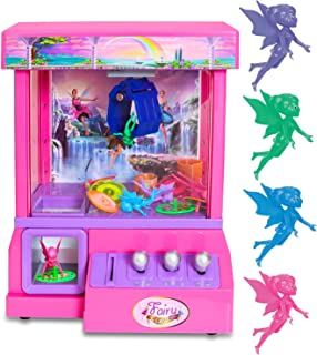 Bundaloo Fairy Claw Machine - Miniature Candy Grabber for Kids with 4 Mini Fairy's, and 30 Reusable Tokens - Electronic Pr...