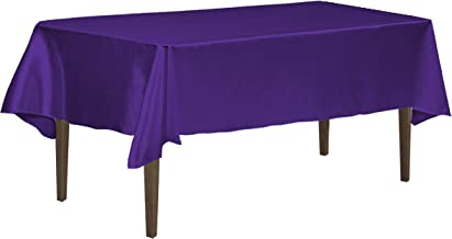 LinenTablecloth 126 Inch Rectangular Tablecloth Purple