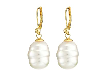 Majorica 12mm Baroque Pearl Drop Earrings (White) Earring