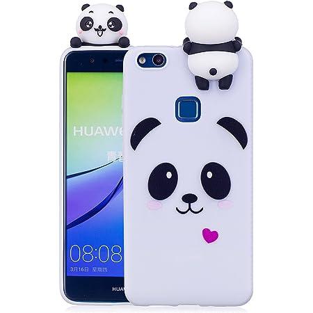 Keteen Cover Huawei P10 Lite Custodia, Elegante 3D Carino Animale TPU Silicone Bumper Flessibile Morbido Anti Graffio Protettiva Case Magro Cover per ...