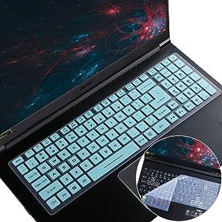 "2Pcs i-Tensodo Keyboard Cover for 2020 Acer Predator 15.6 Laptop/Nitro 5 AN515-43/44/54/55, AN517-51/52 AN715-51/52 15.6"" ..."