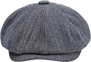 MINAKOLIFE Men Visor Woolen Newsboy Beret Caps Outdoor Casual Winter Cabbie Ivy Flat Hat