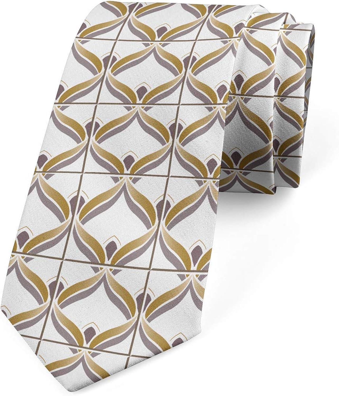 Lunarable Men's Tie, Oriental Motifs, Necktie, 3.7