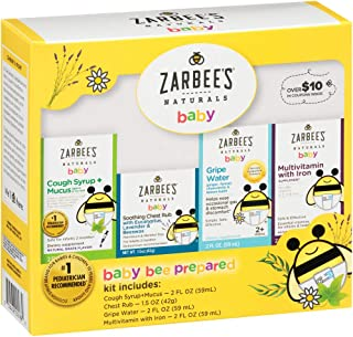 Zarbee's Naturals Baby Bee Prepared Kit with Cough Syrup* + Mucus, Chest Rub, Gripe Water & Multivitamin