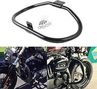 XFMT Gloss Black Engine Guard Highway Crash Bar Compatible with Harley Davidson Sportster XL XR 2004-2018