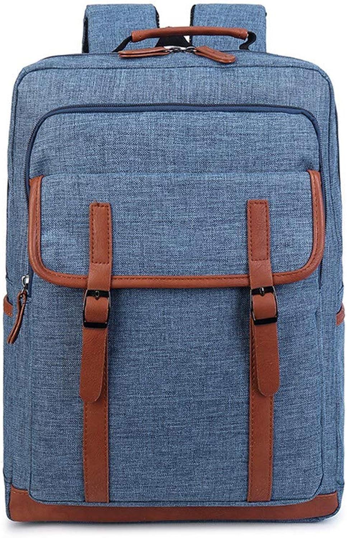 Herren Rucksack Reisetasche Rucksack Studententasche Business Computer Tasche, 43 × 29 × 13 cm, Blau
