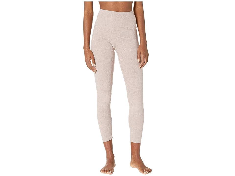 Beyond Yoga Spacedye High-Waist Midi Leggings (Wild Wisteria/Brazen Blush) Women
