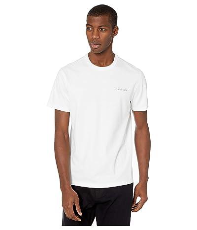Calvin Klein Move 365 S/S Calvin Logo T-Shirt (Brilliant White) Men