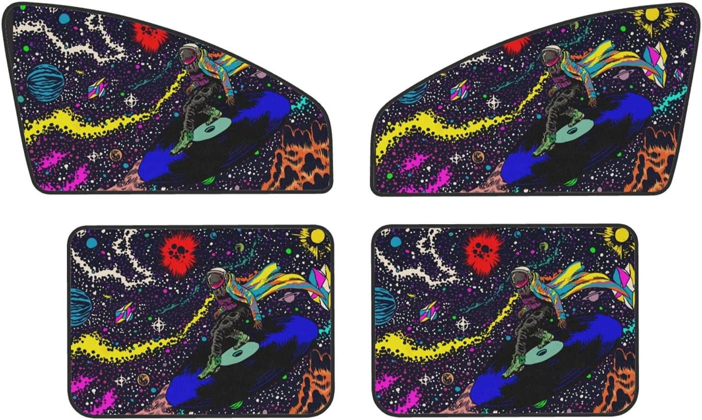 Astronaut Cool Design It is very popular Car Super Special SALE held Side Window Set Win of 4 Sunshades
