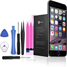 OMBAR Battery Replacement for iPhone 6s Plus, Fit Model A1634, A1687, A1699, Full Sets of Replacement Kit Tools, Adhesive Strip & Instructions, Li-Polymer, 2750mAh, 3.8V.