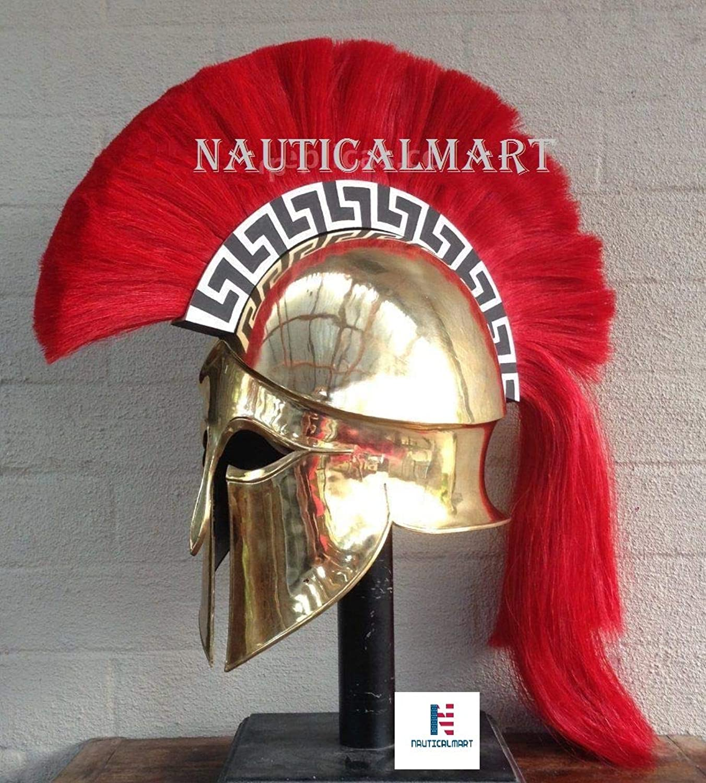 NAUTICALMART Medieval Wearable Greek Corinthian Helmet Free Leather Liner Knight Helmet
