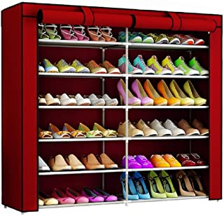 Cmerchants Smart Buy Home Utility Portable Space Saving 12 Layer Shoe Rack Organizer Stand Maroon
