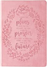 I Know the Plans Slimline LuxLeather Journal in Pink - Jeremiah 29:11