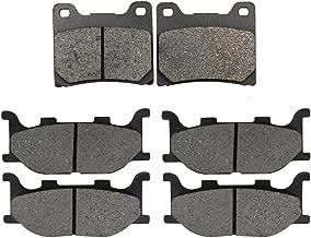 Road Passion Brake Pads Front and Rear for YAMAHA XVS1100 V-Star Custom Midnight 2007-2008/XVS1100 V-Star Custom/Classic/Silverado 1999-2009