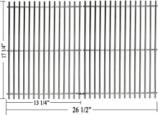 """Hisencn Grill Cooking Grate Replacement Parts for Master Forge 1010037, Nexgrill 720-0719BL, 720-0773, Stainless Steel 17 1/4"""" Grids for Charbroil 463411512, 463411712, 463411911, Kenmore, Tera Gear"""