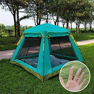 GLXQIJ Gran Pop Up Mosquitera Exterior para Cama Camping Cama Plegable PortáTil Carpa Redes Cuna Libre para Adultos One Touch Travel,Blue,210 * 210 * 165CM