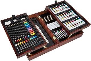 Vigorfun Deluxe Art Set en estuche de madera, con pasteles s