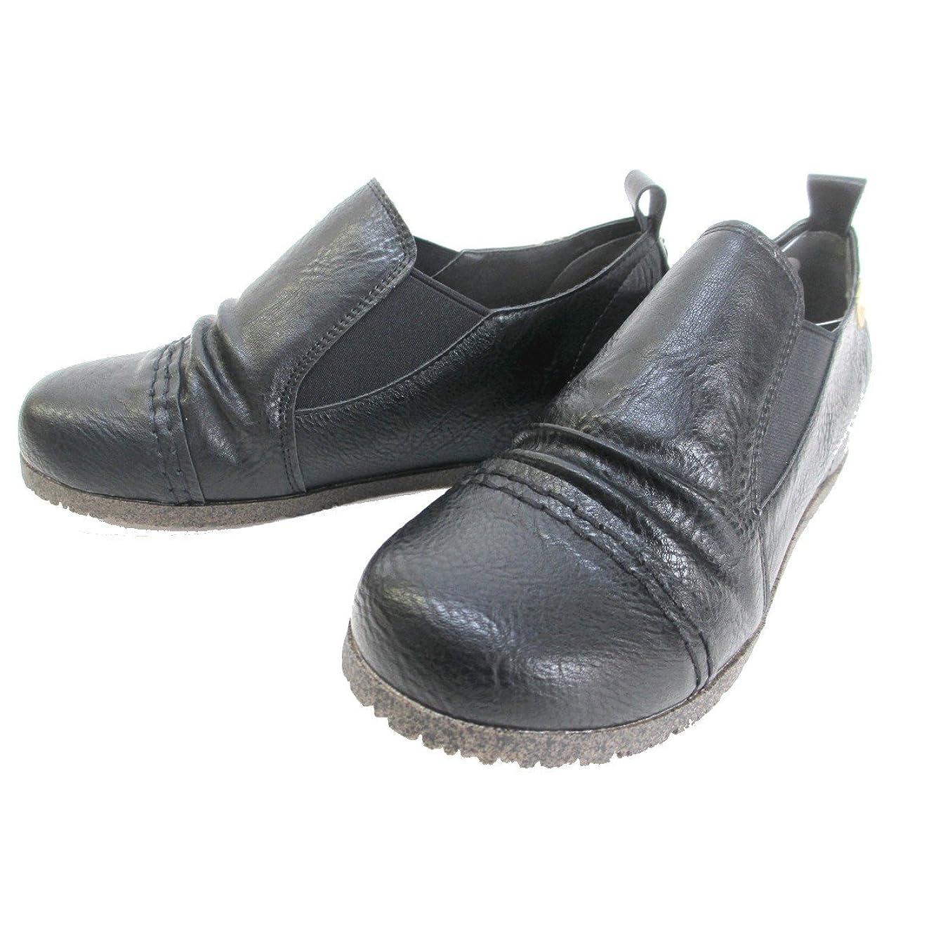 アイロニー赤字秘書[ノーブランド品] [マスチェッタ] MASCHIETTA 1015 レディース コンフォート カジュアルサイドゴアシューズ ラウンドトゥ インヒール 仕事靴 通勤靴