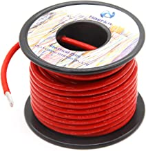 Jtron 10 Gauge Copper Cables Wires Black+Red 1.64 ft Welding Battery Pure Copper Cables Wires Flexible Water Resistant Car Battery Cable Copper Wire with 4 Marine Battery Lugs for Car Truck 10AWG