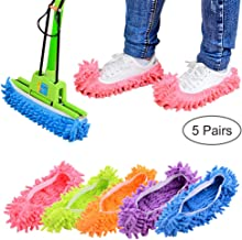 10 PCS 5 Pairs Dust Duster Mop Slippers Shoes Cover, Multi Function Washable Microfiber..