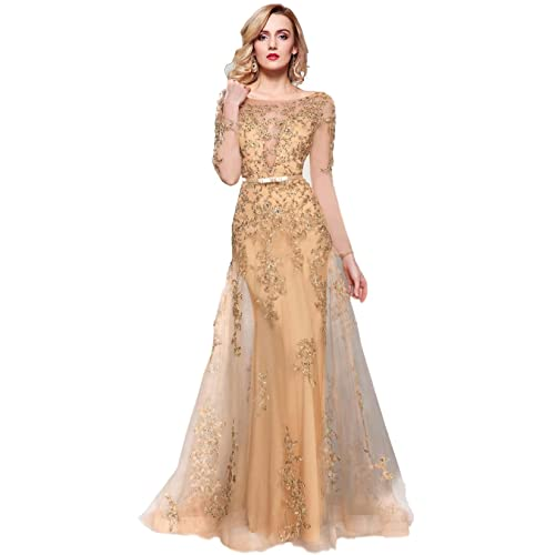 a486084032 Ball Gowns with Sleeves: Amazon.com
