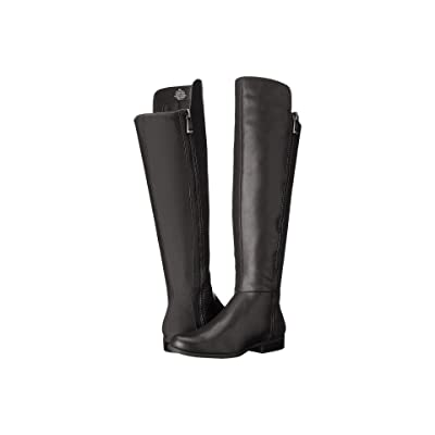 Bandolino Camme Wide Shaft (Black Leather) Women