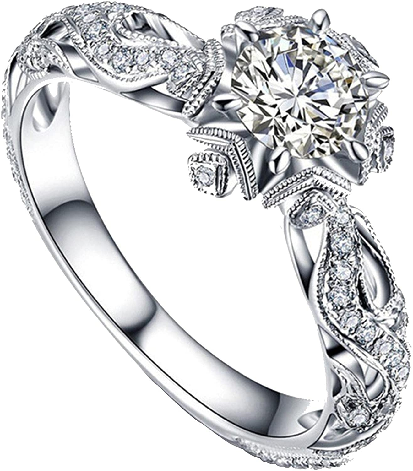 Engagement Rings for Safety and trust Women Cheap bargain Water Drop Full S Love Diamond Shaped