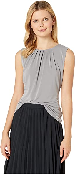 Solid Pleat Neck Cami