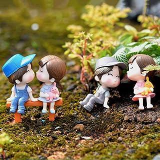 goupgolboll-3本/セット愛好家チェアミニチュア風景DIY飾りガーデンドールハウスの装飾 - ブルー+ピンク