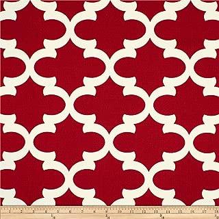 red quatrefoil fabric