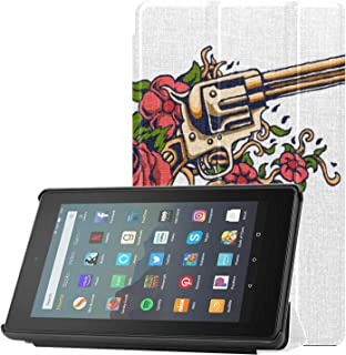 Pokrowiec Kindle Fire 7 etui pistolet i pistolety Fire 7 etui na tablet dla mężczyzn do tabletów Fire 7 (9. generacji, mod...
