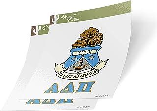 Desert Cactus Alpha Delta Pi Letter 2-Pack Decal Greek for Window Laptop Computer Car ADPi (Crest Sticker)