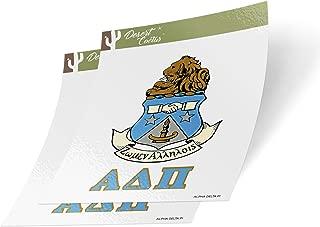 Desert Cactus Alpha Delta Pi Crest & Letter 2-Pack Sticker Decal Greek for Window Laptop Computer Car ADPi (Crest Sticker)