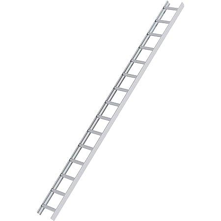nach BGR 203 Dachleiter Aluminium 6,51 m Dachdeckerauflegeleiter 24 Sprossen gew/ölbte Bremer Sprosse
