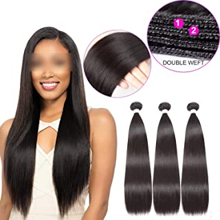 see something Malaysian Straight Hair Extensions 100% Hair Malaysian Hair Weave Bundles Straight Hair 3PCS Natural Color,8 8 8,Natural Color