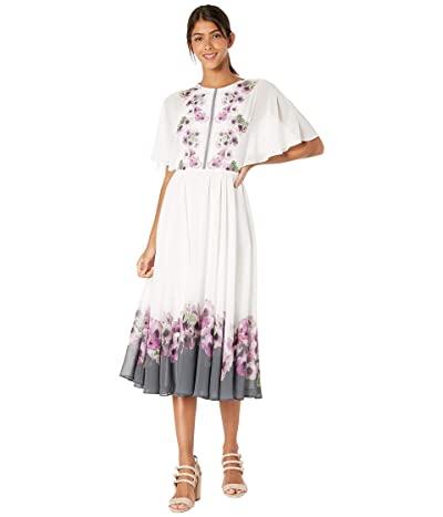 Ted Baker Begoni Neopolitan Maxi Dress (Ivory) Women