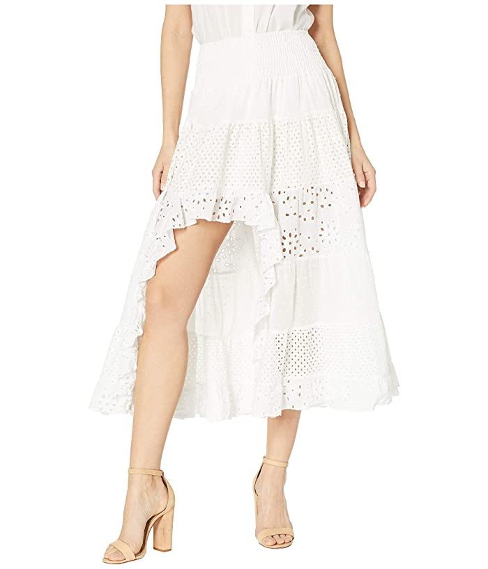 Scully Tiered Lace Skirt (White) Women