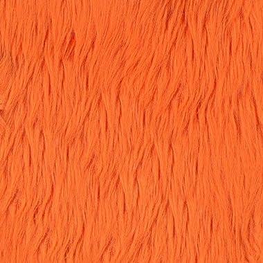 Shannon Fabrics Shannon Faux Fur Luxury Shag Orange Fabric By The Yard