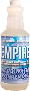 Empire Hard Water Stain Remover | Shower, Kitchen, Bathroom, Tub, Grout, Glass, Tile Cleaner | Eco-Friendly Cleaning Supplies | Limescale, Rust, Calcium Deposit Eraser | No Scratches, Spray & Wipe