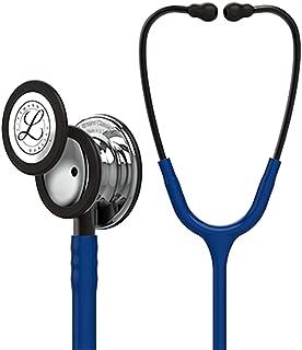 3M Littmann Classic III Monitoring Stethoscope, Mirror - Finish Chestpiece, Navy Blue Tube, Smoke Stem and Headset, 27 inch, 5863
