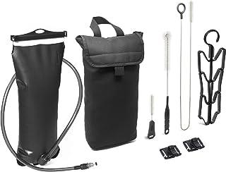 مخزن مثانه آب 3L Hydration Pack - شامل کیت تمیز کردن ، کیسه کولر عایق بندی شده و کلیپ های رایگان برای نگهداری لوله های آشامیدنی - بی مزه ، ضد آب ، TPU ، بدون BPA ، شیرآلات سریع و خاموش