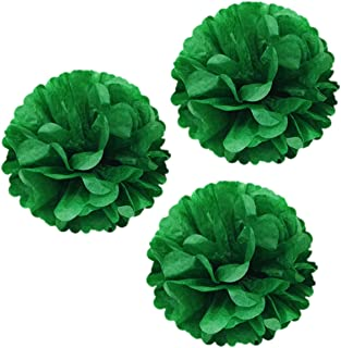 Wrapables Tissue Pom Poms Party Decorations for Weddings, Birthday Parties, Baby Showers and Nursery Decor, Kelly Green, 14-Inch, Set of 3