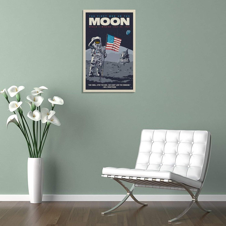 20 x 30 cm YJTY P/óster vintage de Apollo 11 para decoraci/ón de pared p/óster de la oficina para sala de estar dormitorio decoraci/ón del hogar