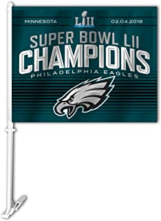 Fremont Die NFL Philadelphia Eagles Super Bowl 52 Champions Car Flag