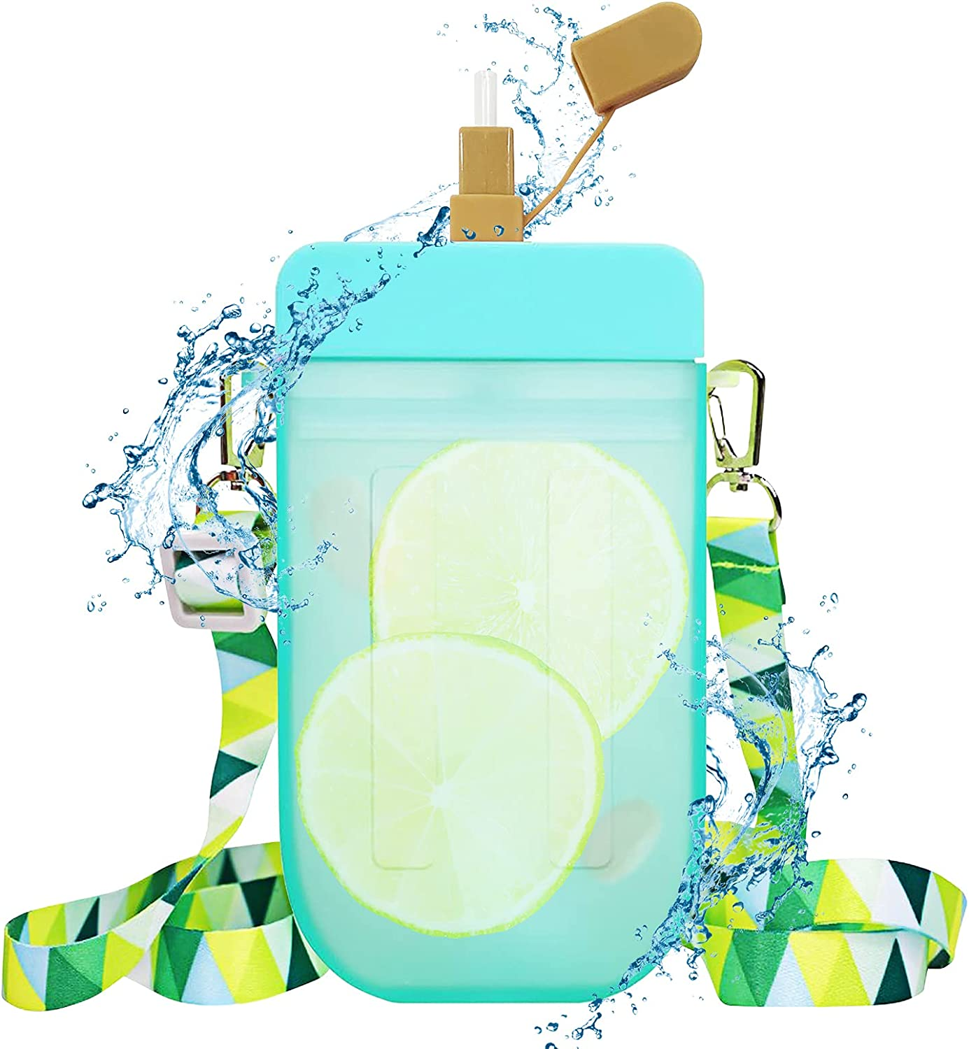 Popsicle Water Bottle with Strap Creative Chicago Mall Cream Max 79% OFF Ice Bottl