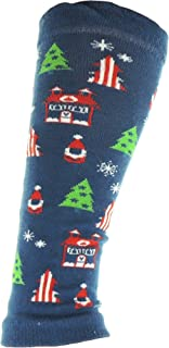 Calentadores de piernas para niñas de invierno con temática navideña de 3 a 8 años