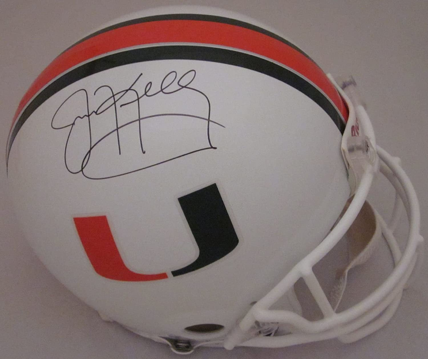 Jim Kelly Miami Hurricanes Autographed Full Size Authentic Helmet