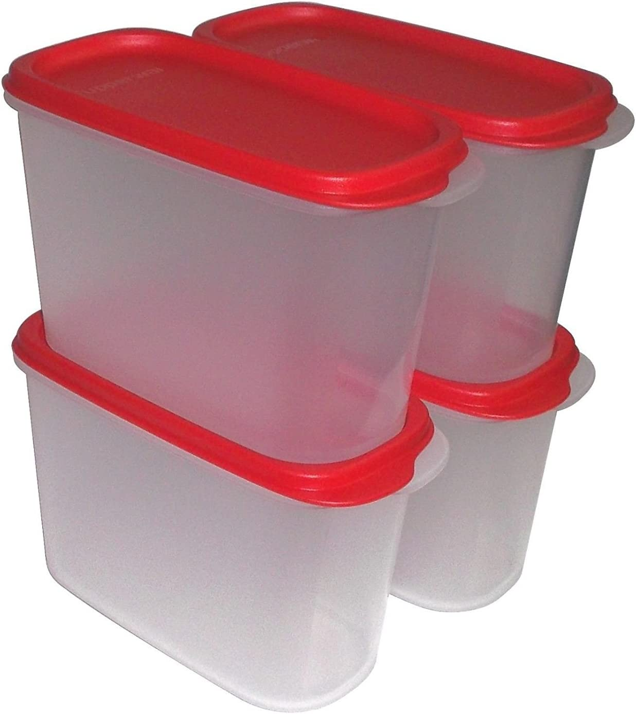 Tupperware New Smart Saver #3 (1.7 Ltrs) Set Of 4 (Red)